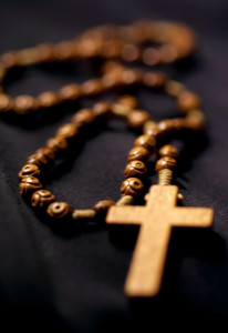 PRAY ROSARY TO COUNTER EVIL, POPE SAYS